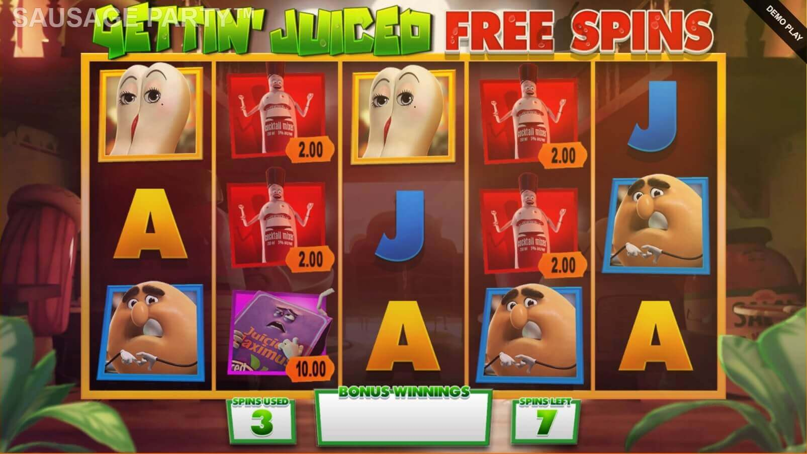 Sausage Party Slot Gameplay