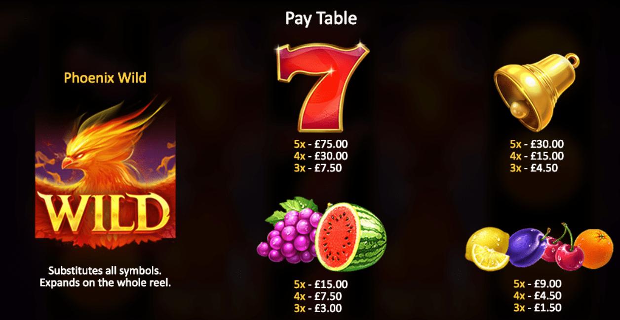 casino phoenix fire game online