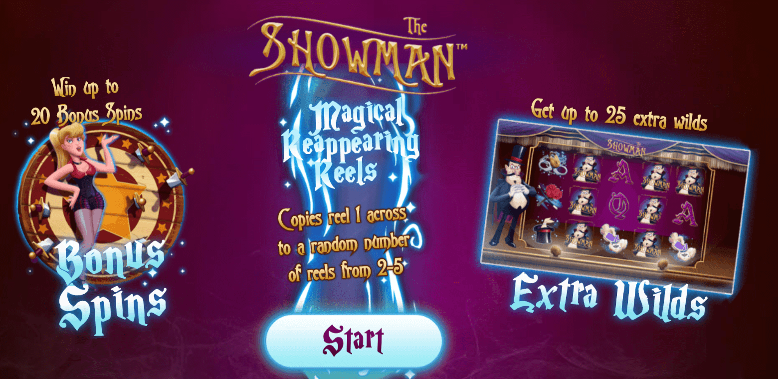 the showman game casino online play wins