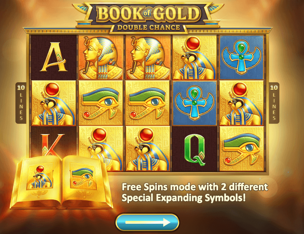 book of gold double chance game wins slots