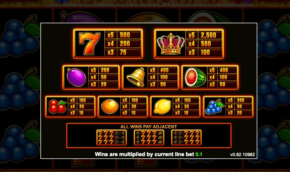 play super hot fruits casino