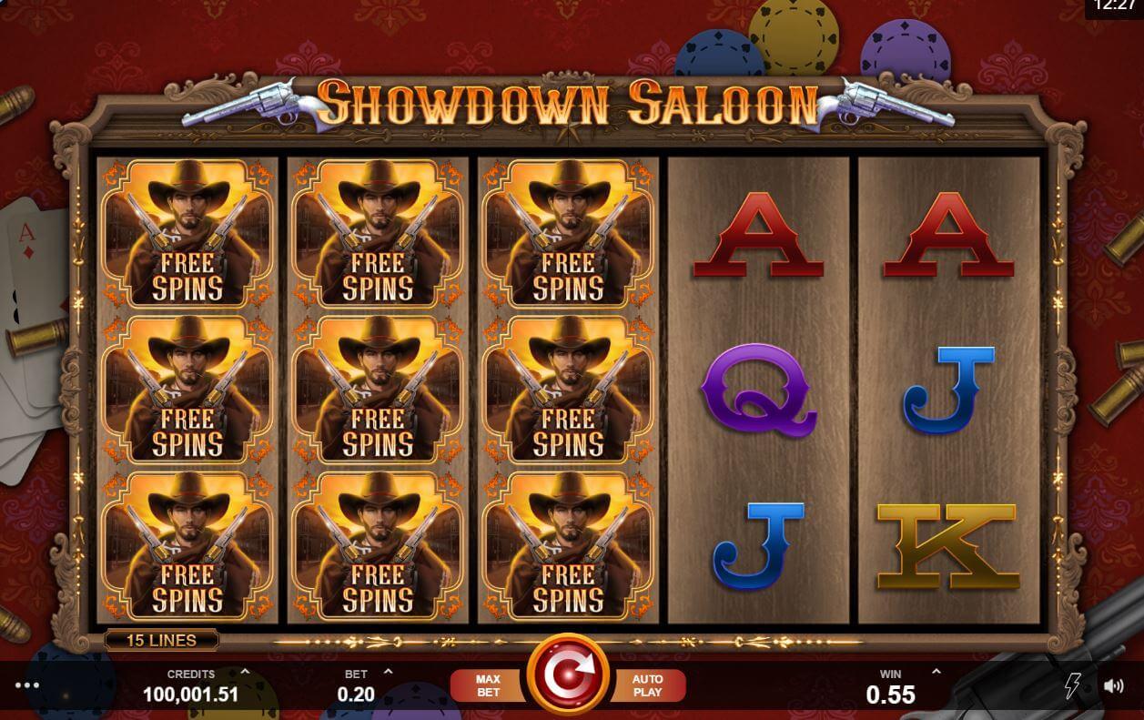 Showdown Saloon Slot Bonus