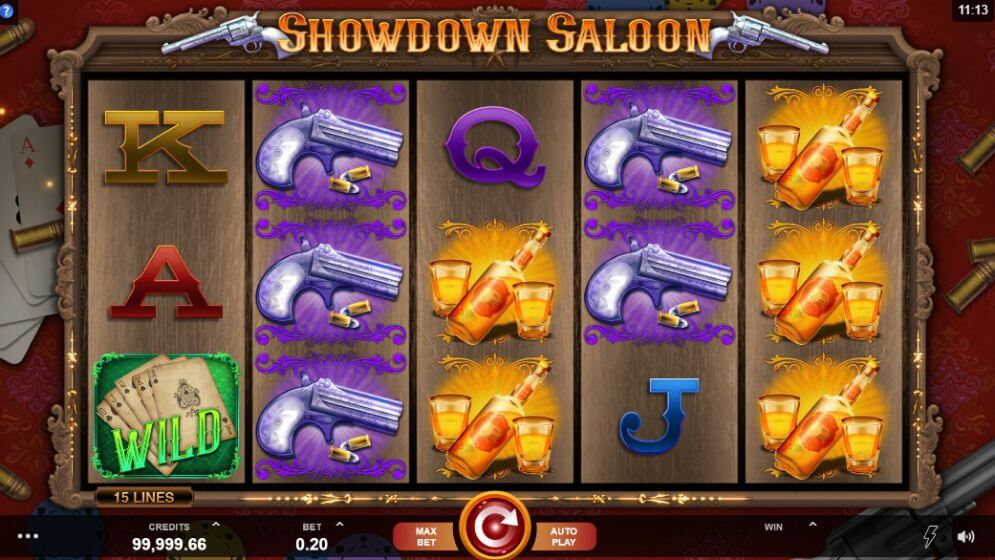 Showdown Saloon Slot Gameplay