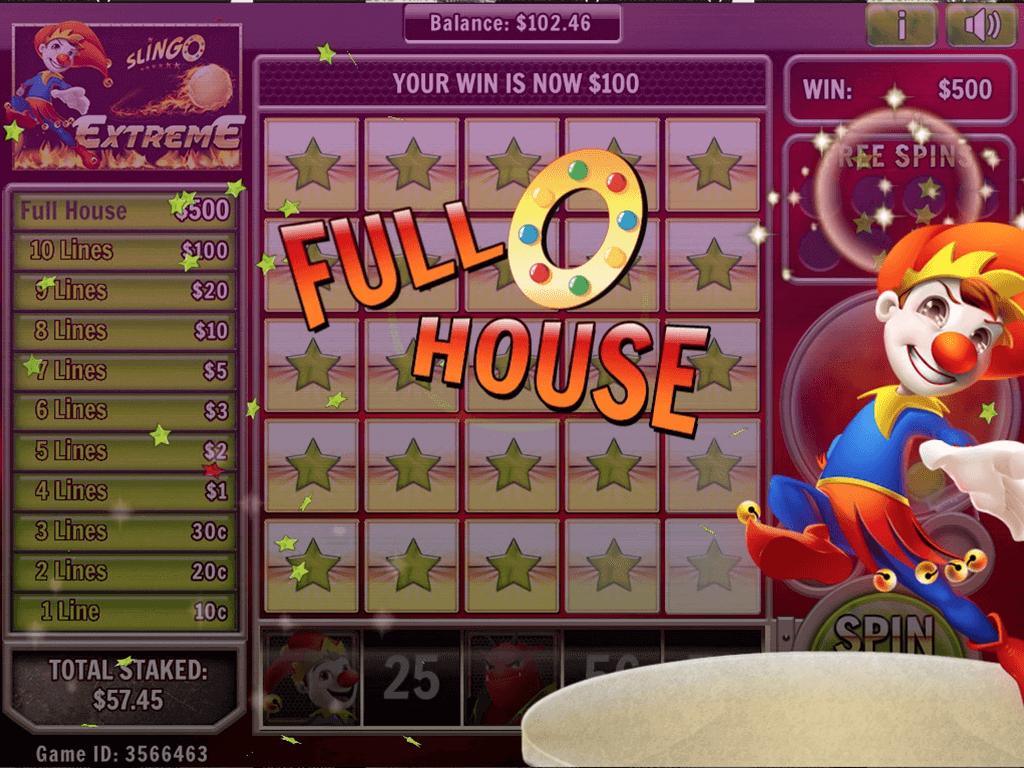 Slingo Extreme Slot Bonus