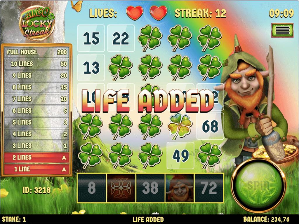 Slingo Lucky Streak Slot Bonus