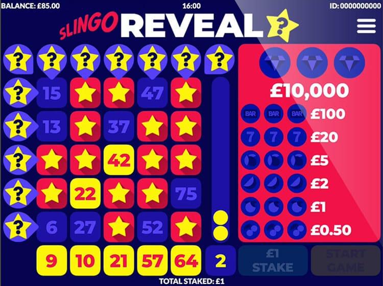 Slingo Reveal Slot Bonus