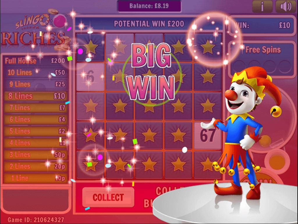 Slingo Riches Slot Gameplay