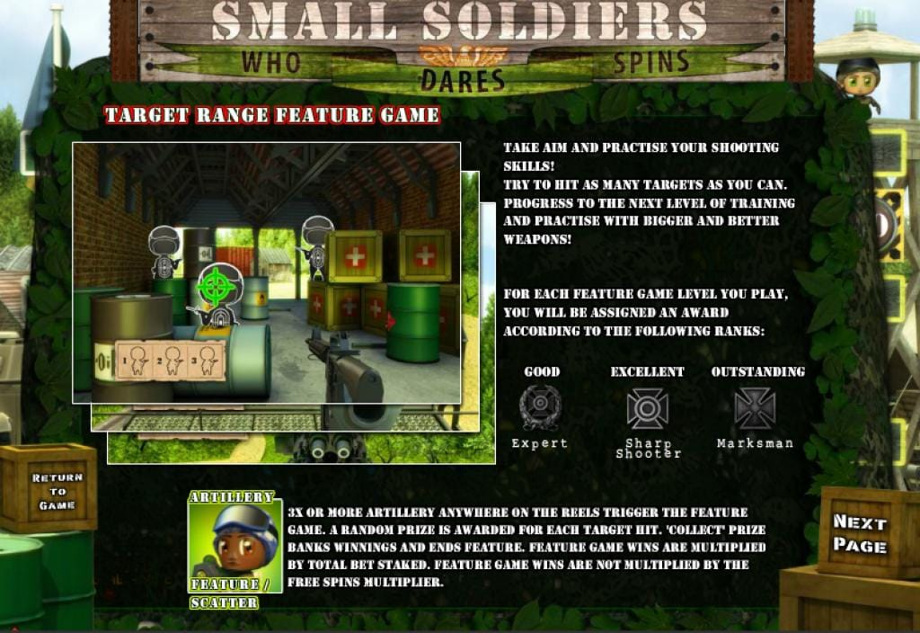 small soldiers slots game online help