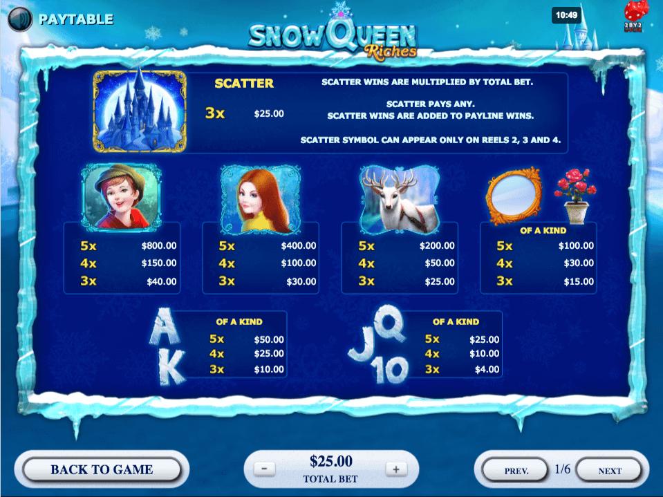 Snow Queen Riches Bonus