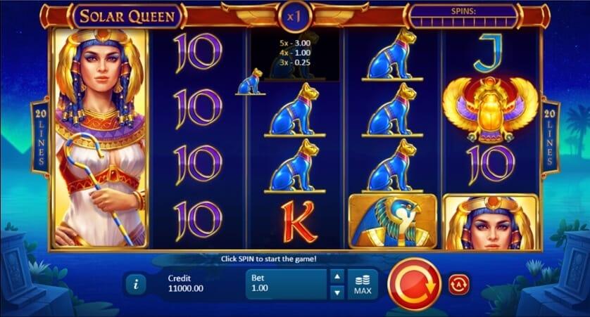Solar Queen Slot Bonus