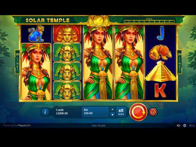 Solar Temple Slot Gameplay