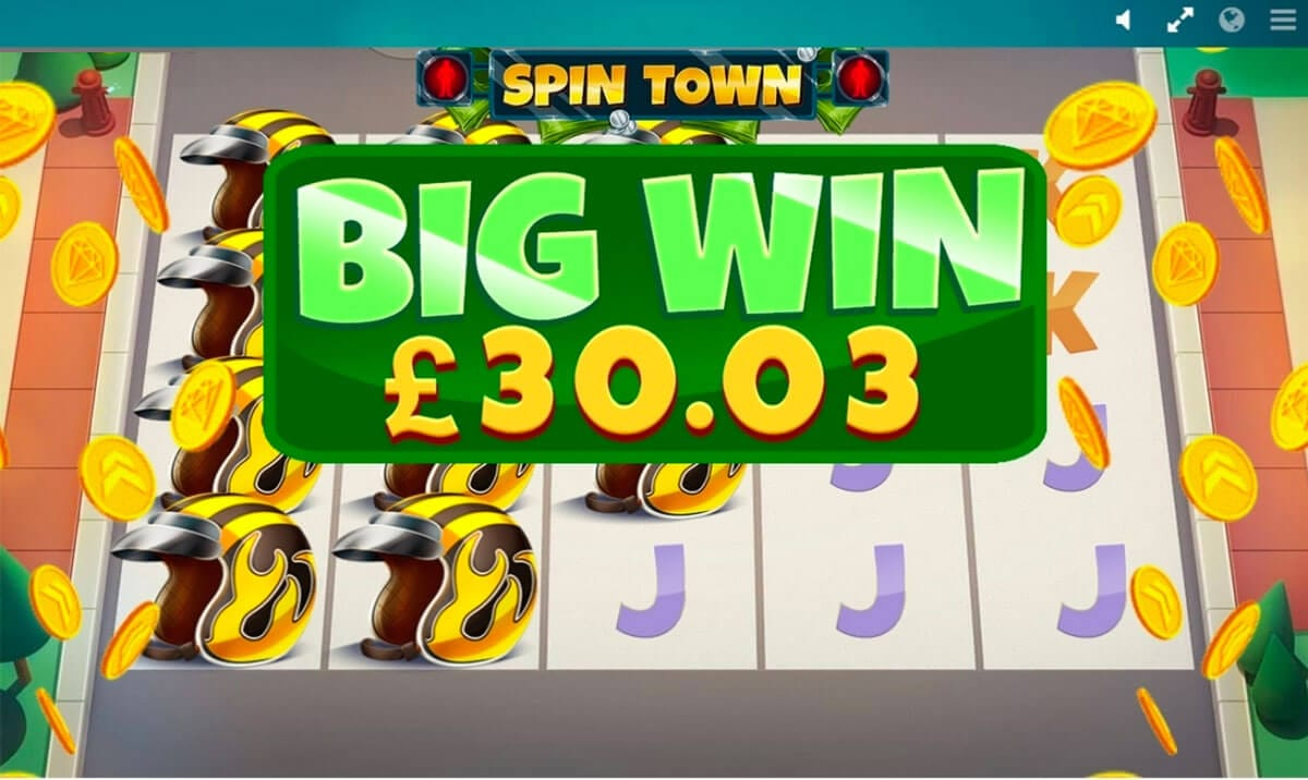 Spin Town Slot Gameplay