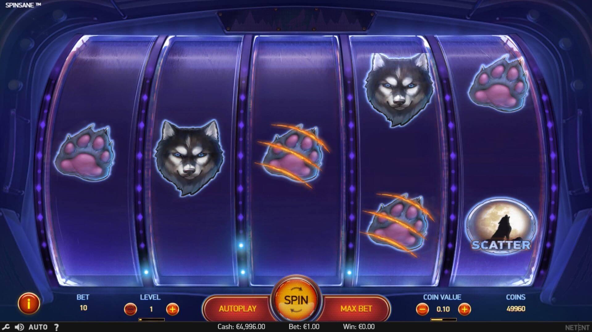 Spinsane Slot Gameplay