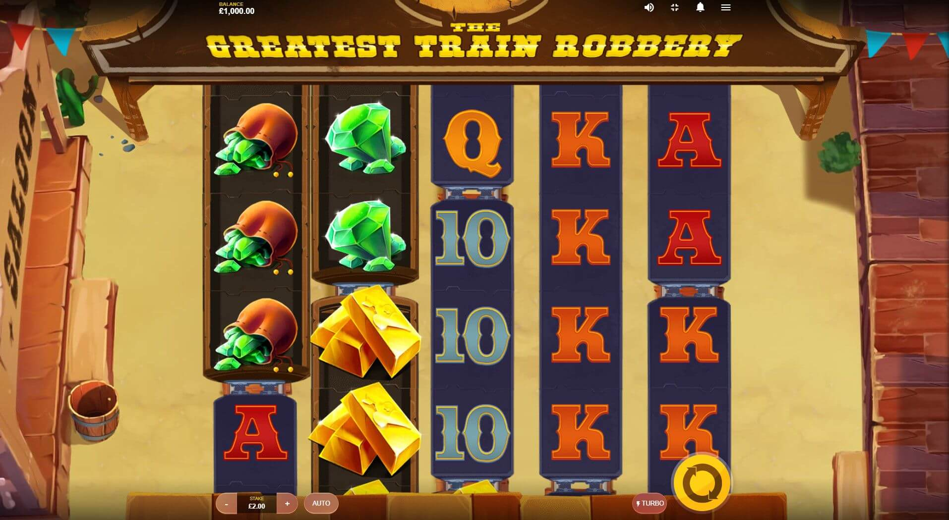 The Greatest Train Robbery Slot Bonus