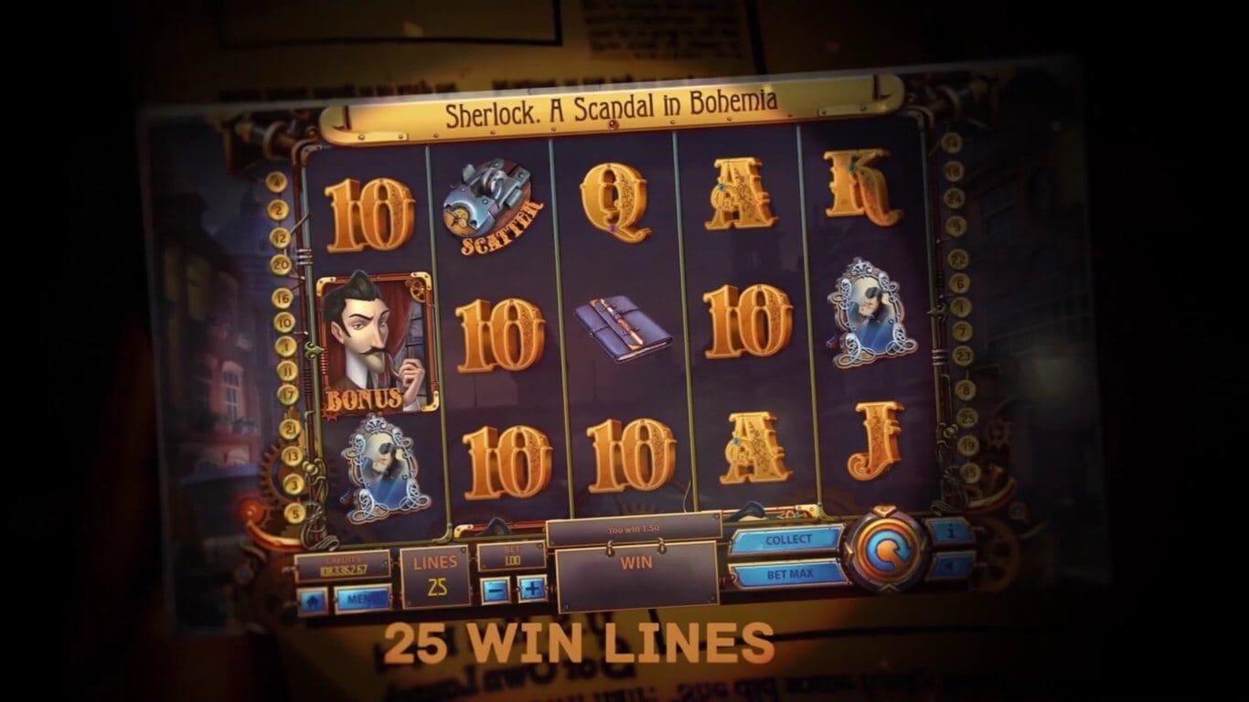 The Sherlock A Scandal in Bohemia Slot Bonus