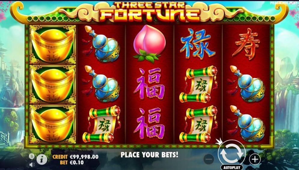 Three Star Fortune Slot Bonus