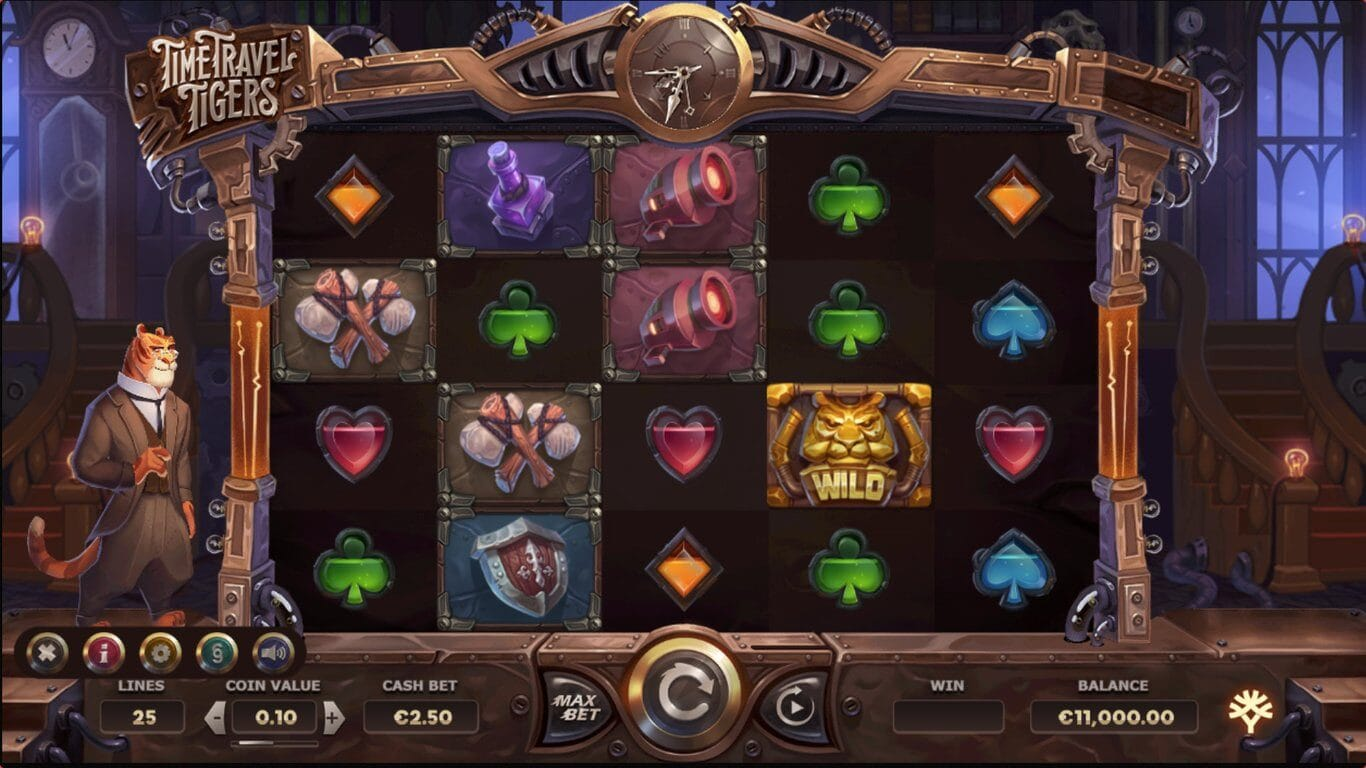 Time Travel Tigers Slot Gameplay