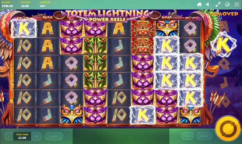 Totem Lightning Power Reels Slot Gameplay