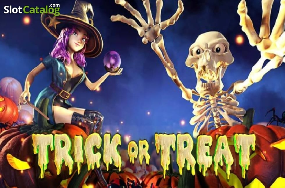 Trick or Treat slot gameplay casino logo