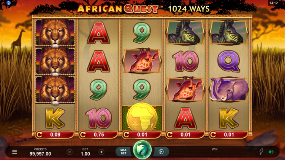 African Quest Slots UK Bingo