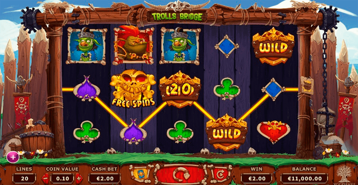 Trolls Bridge Slot Bonus