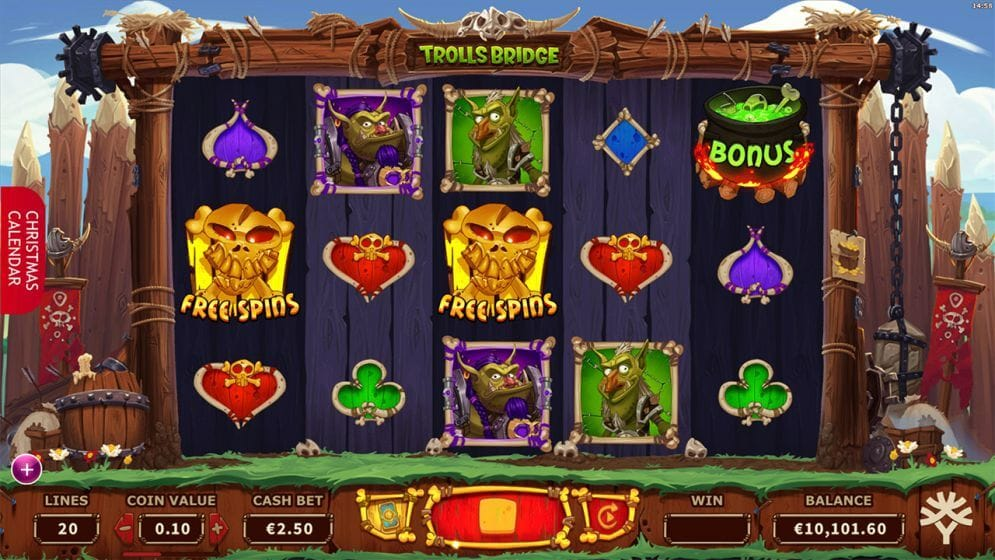 Trolls Bridge Slot Gameplay