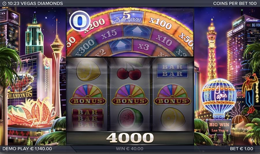 Vegas Diamonds Bonus