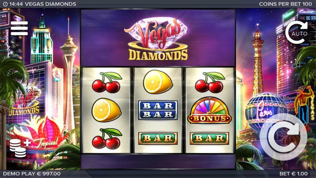 Vegas Diamonds Gameplay