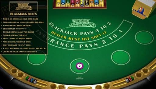 Vegas Downtown Blackjack Gameplay