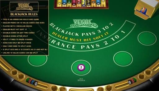 Vegas Downtown Blackjack Gameplay