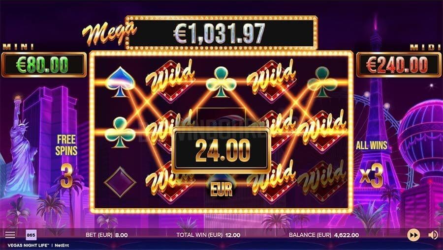 Vegas Night Life Slot Bonus