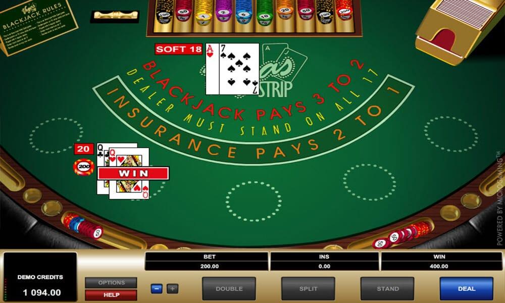 Vegas Strip Blackjack Gameplay
