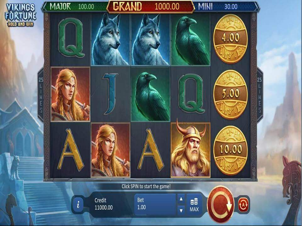 Vikings Fortune Hold and Win Slot Bonus
