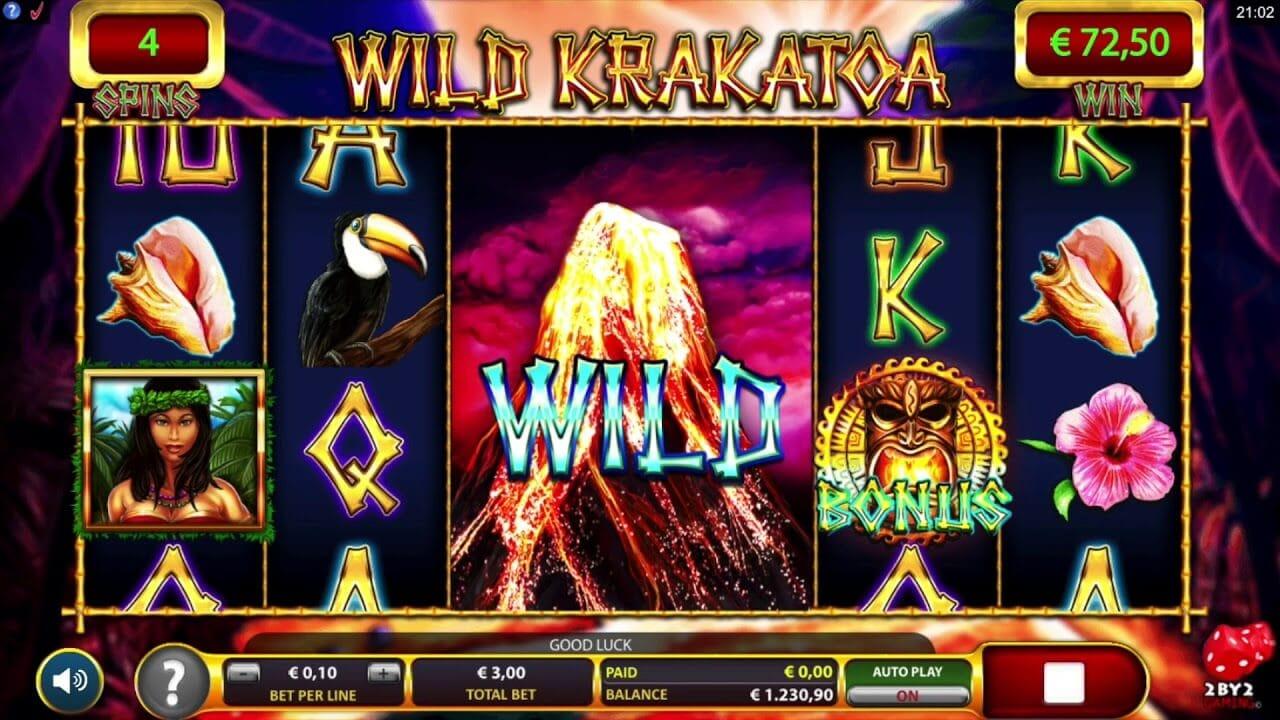 Wild Krakatoa Slot Bonus