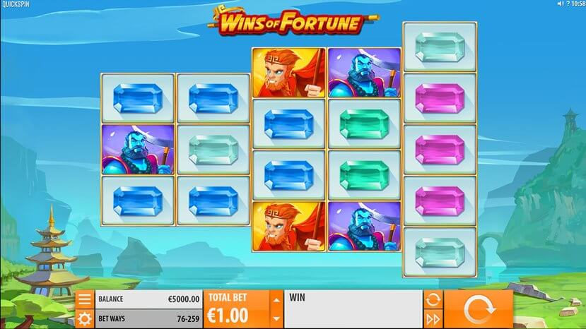 Wins of Fortune Gameplay