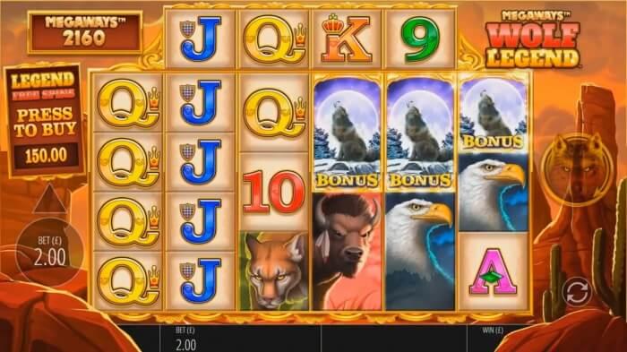 Wolf Legend Megaways Slot Gameplay