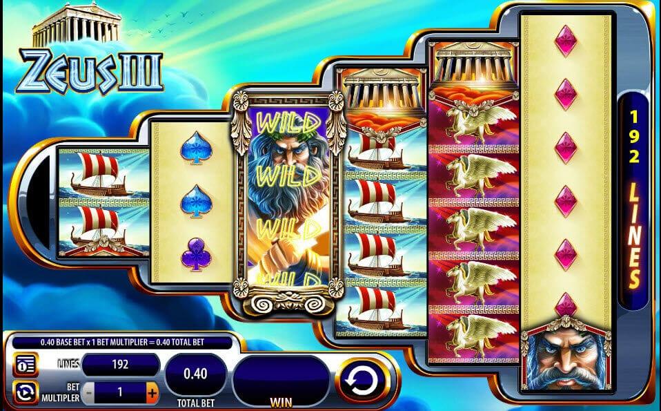 Zeus III Slot Gameplay