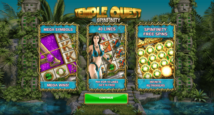 temple quest spin online