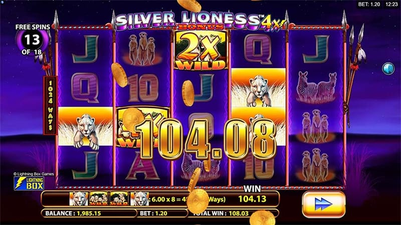 silver lioness slots