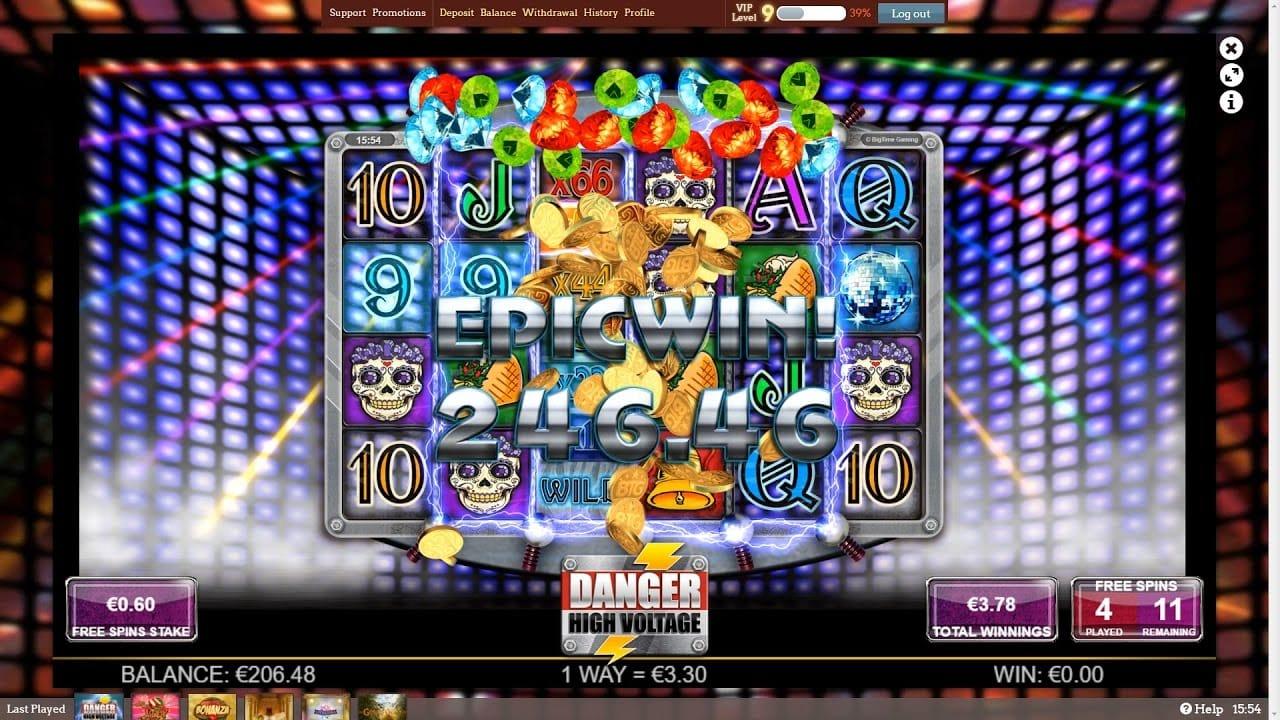 slots game danger high voltage