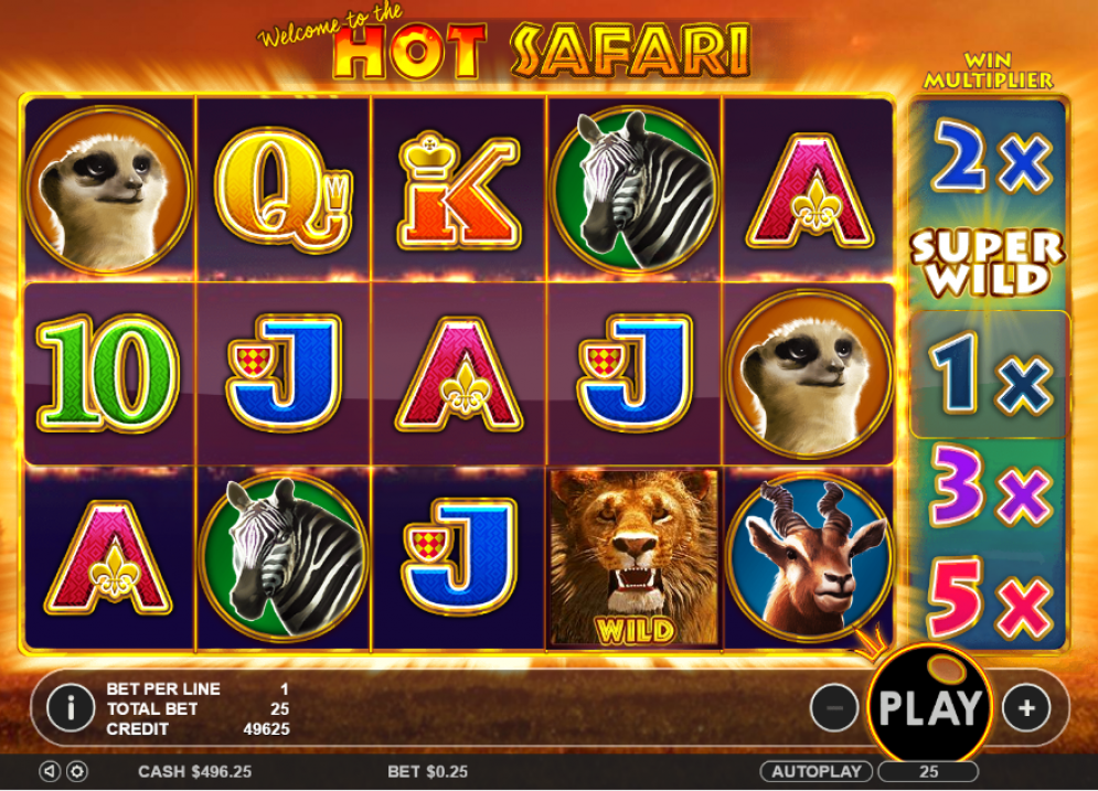 hot safari online game bets