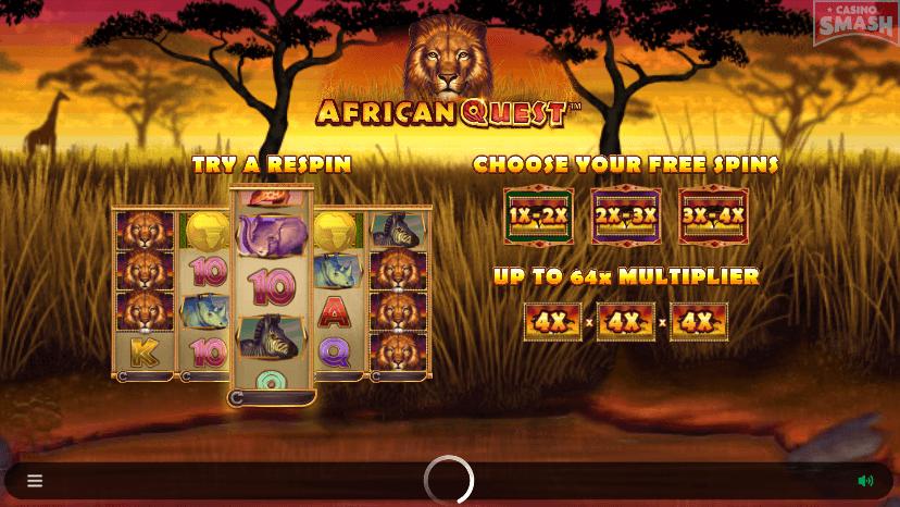 African Quest Slots Symbols Bonus