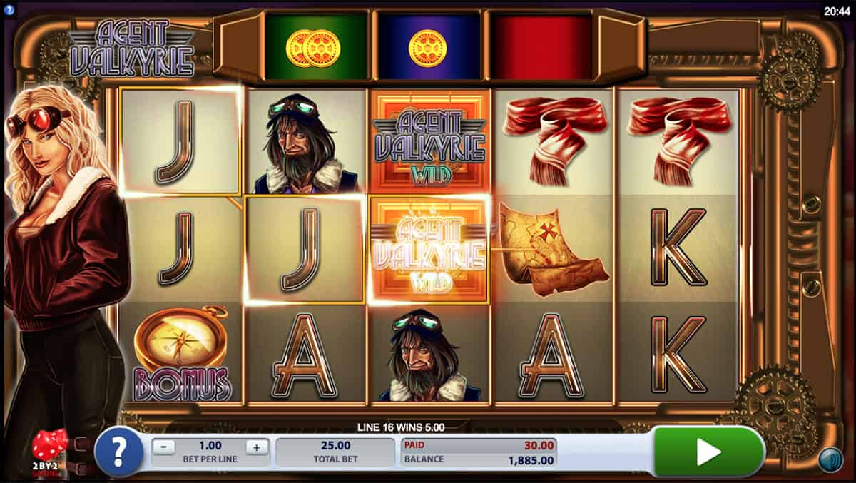 Agent Valkyrie Casino Gameplay