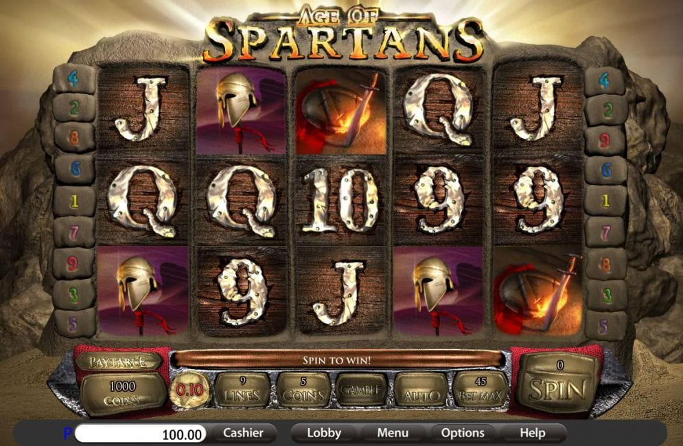 Age of Spartans online slot gameplay