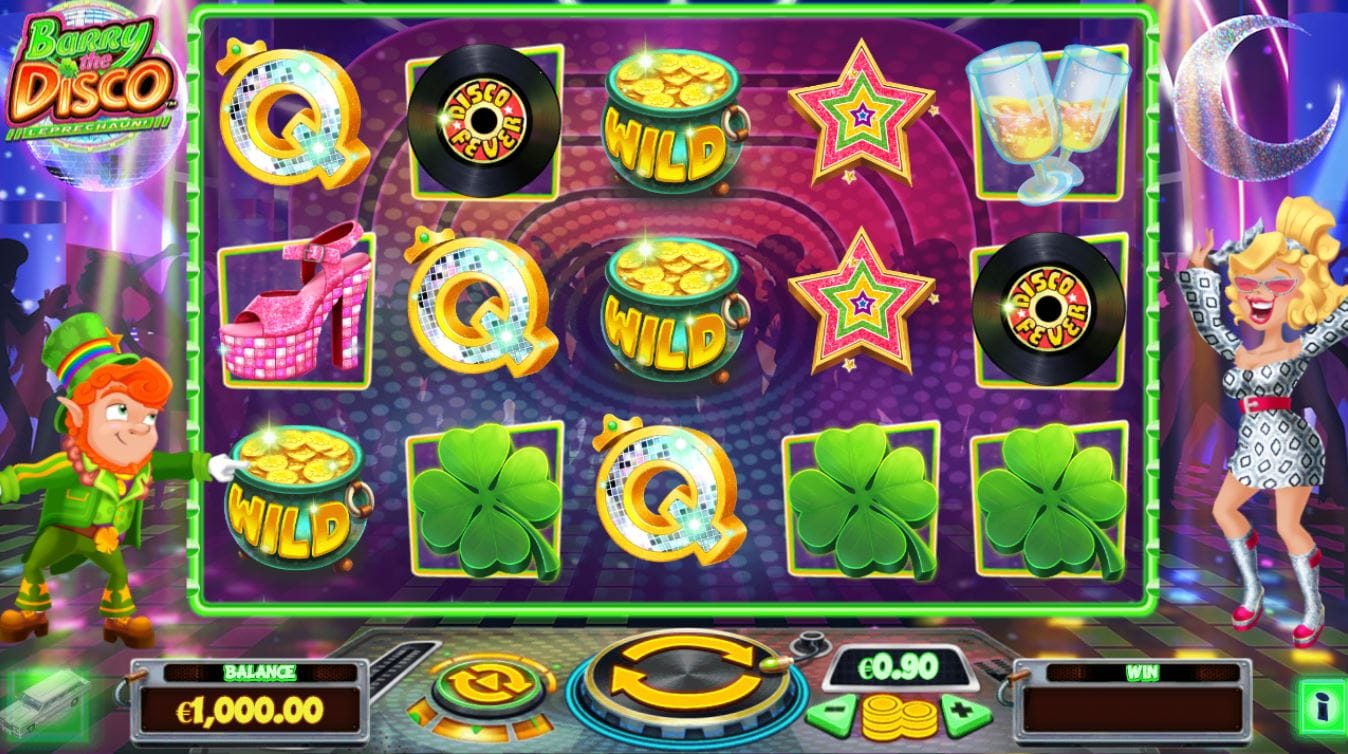Barry the Disco Leprechaun casino gameplay