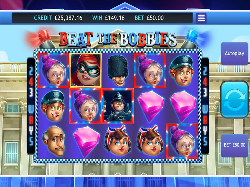 Beat the Bobbies Jackpot gameplay