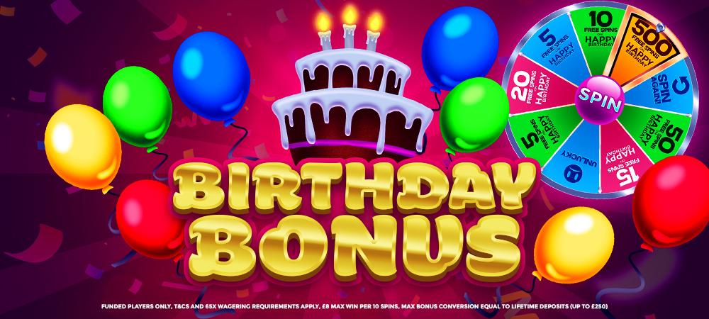 Birthday bonus - Offer - Barbados Bingo