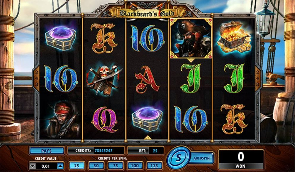 Blackbeard Online Slot Gameplay