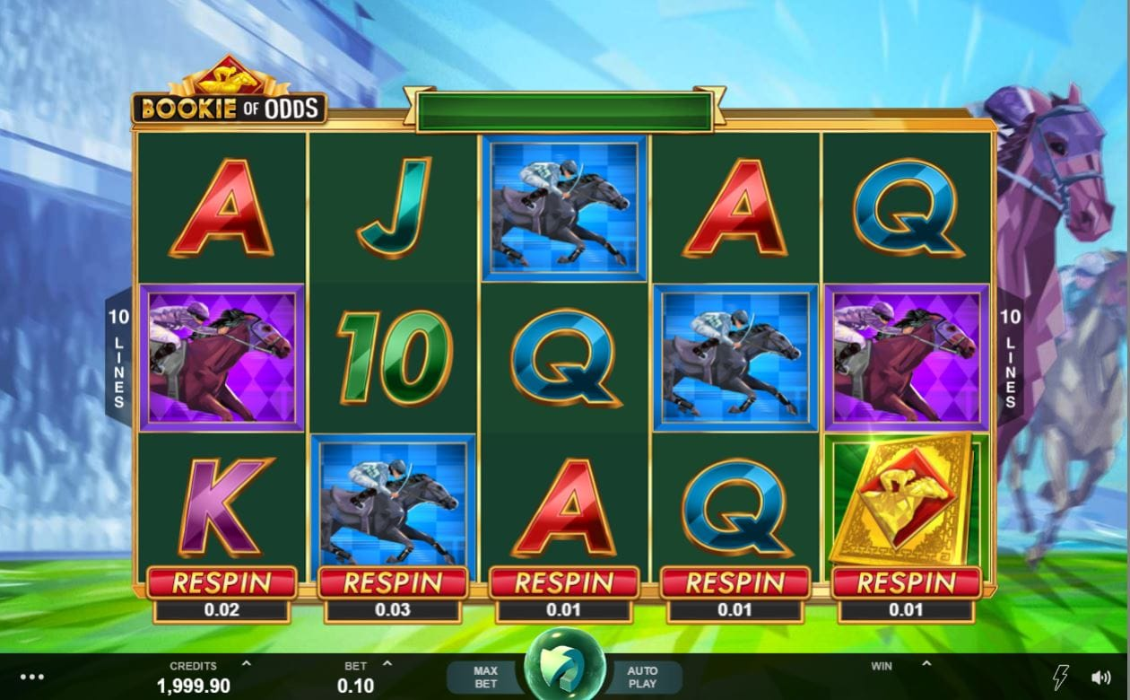 Bookie of Odds Gameplay Casino