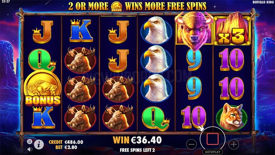 Buffalo King Slots Game Play